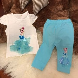 Elsa Matching Sparkly Set Super Cute NWT